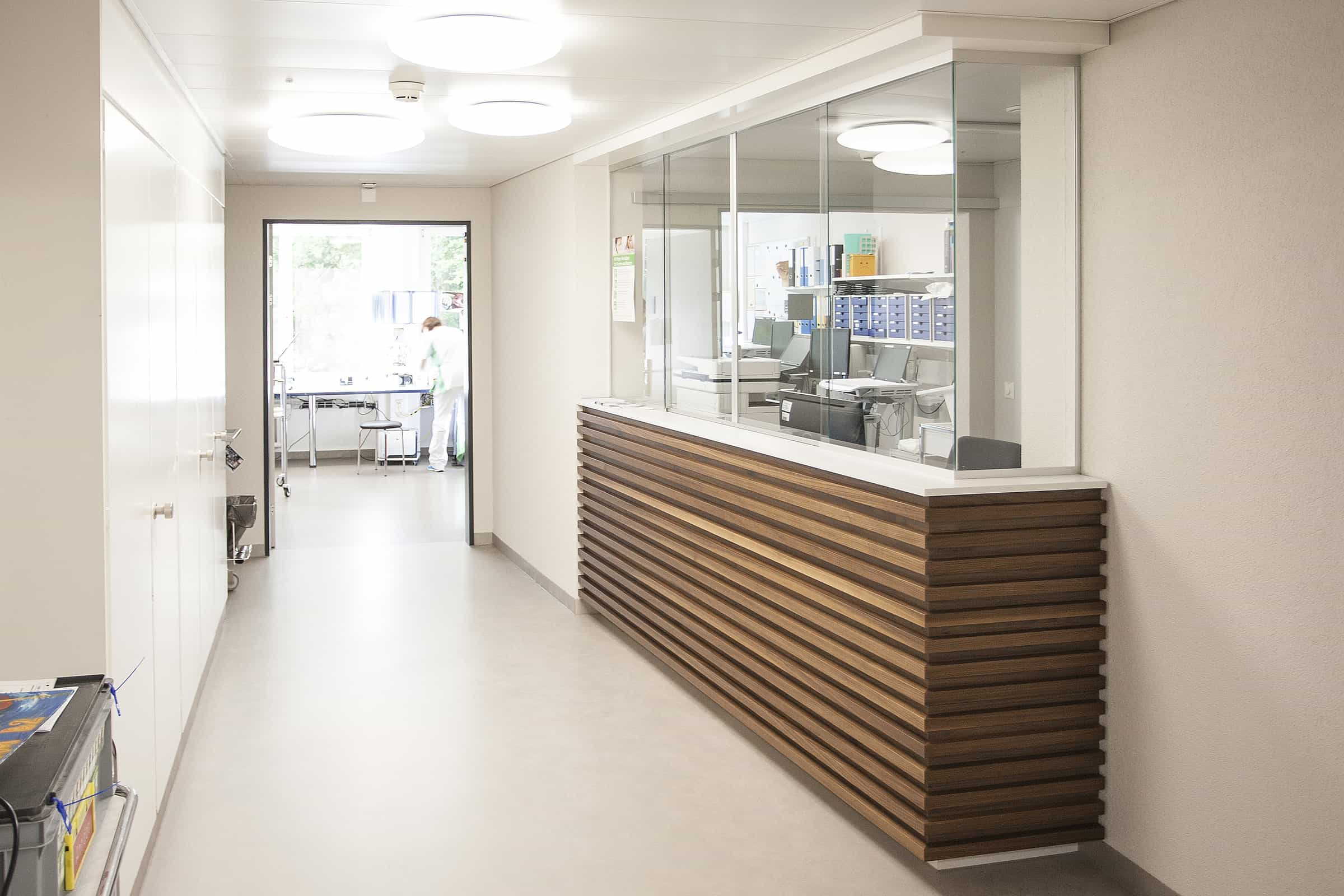 Engeried Spital, Empfang